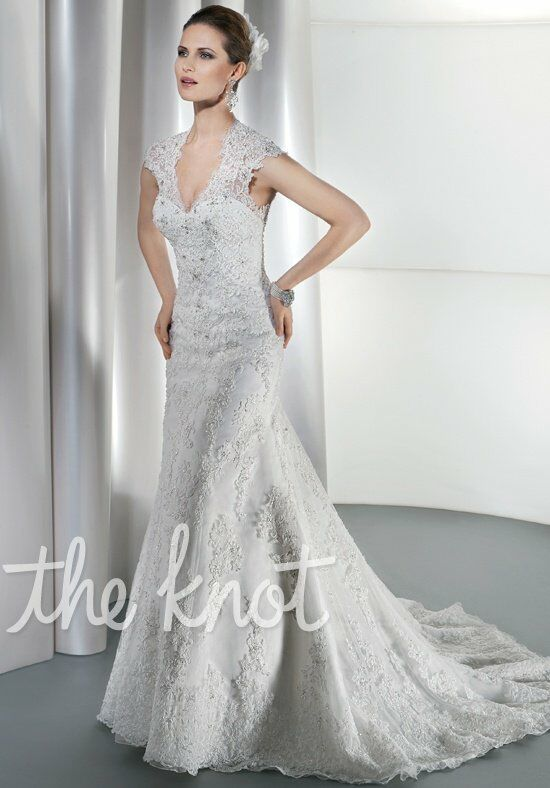 Demetrios 1449 Sheath Wedding Dress