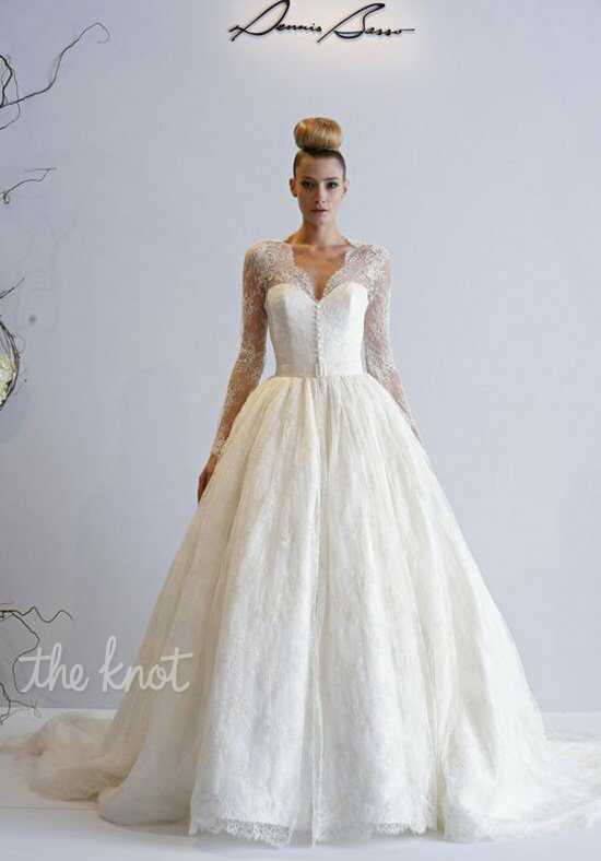 Dennis Basso for Kleinfeld Lotus Ball Gown Wedding Dress