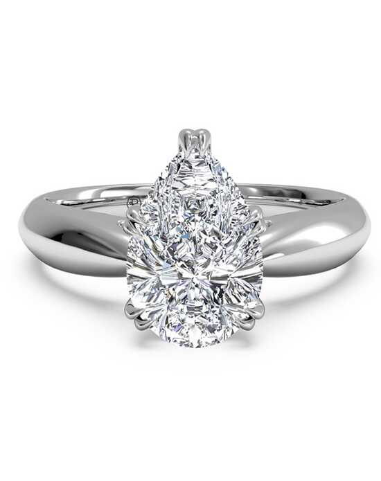 ritani solitaire diamond tulip cathedral engagement ring - Pear Shaped Wedding Ring