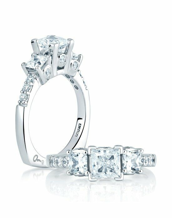 A.JAFFE Princess Cut Engagement Ring