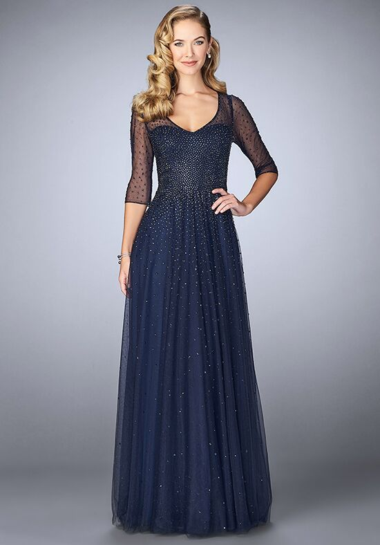 La Femme Evening 24894 Blue Mother Of The Bride Dress