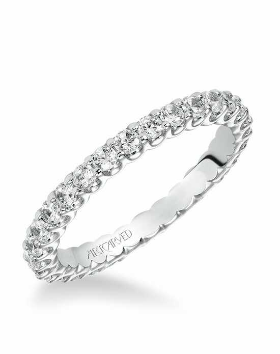 ArtCarved 33-V10E4W65 White Gold Wedding Ring