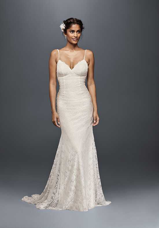 David's Bridal Galina Style WG3827 Sheath Wedding Dress