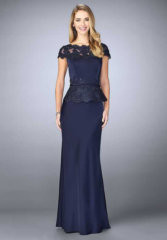 La Femme Evening 23444 Blue Mother Of The Bride Dress