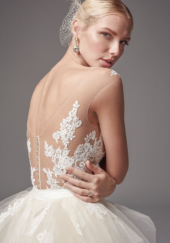 sottero and midgley tristan bodysuit with gemma skirt