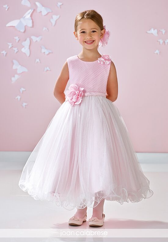 Joan Calabrese by Mon Cheri 117356 Ivory Flower Girl Dress