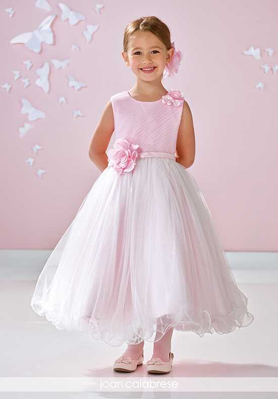 Joan Calabrese by Mon Cheri 117356 Pink Flower Girl Dress