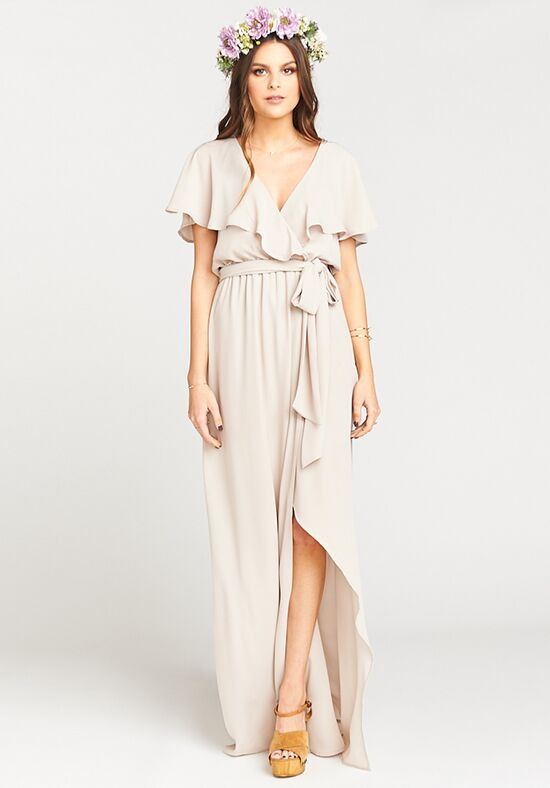 Show Me Your Mumu Audrey Maxi Dress - Show Me the Ring Crisp V-Neck Bridesmaid Dress