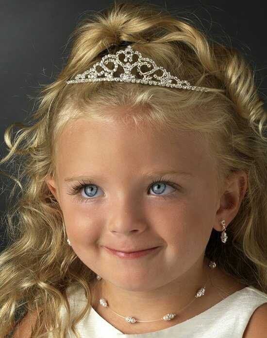 USABride Princess Heart Flower Girl Tiara TF-303 Silver Tiara