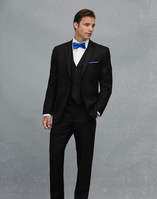 Jos. A. Bank 2-Button Notch Lapel Black Suit Wedding Tuxedos + Suit photo