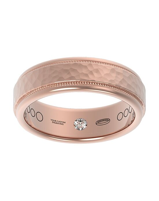 Everband 7 mm Hammered Gold, Rose Gold, White Gold, Platinum Wedding Ring