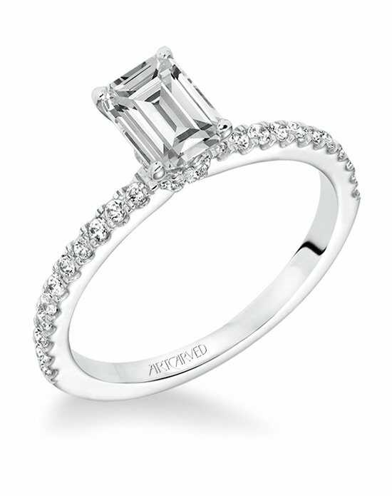 ArtCarved Emerald Cut Engagement Ring