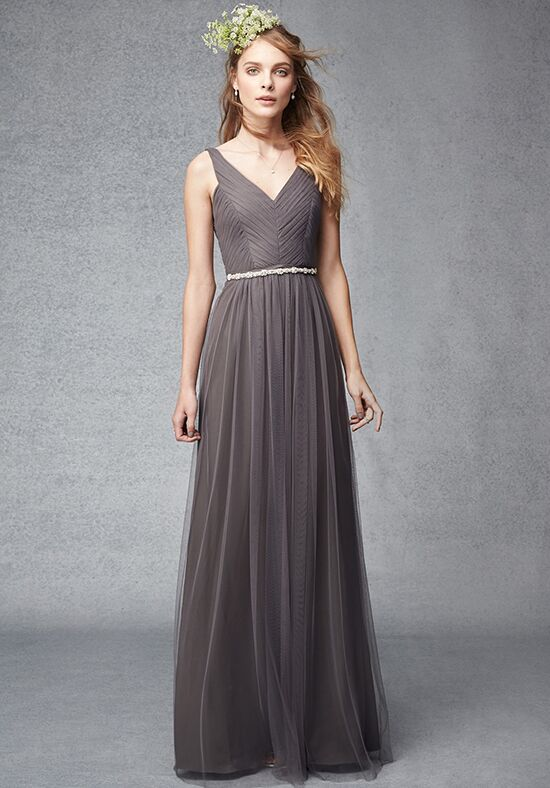 Monique Lhuillier Bridesmaids 450248 V-Neck Bridesmaid Dress