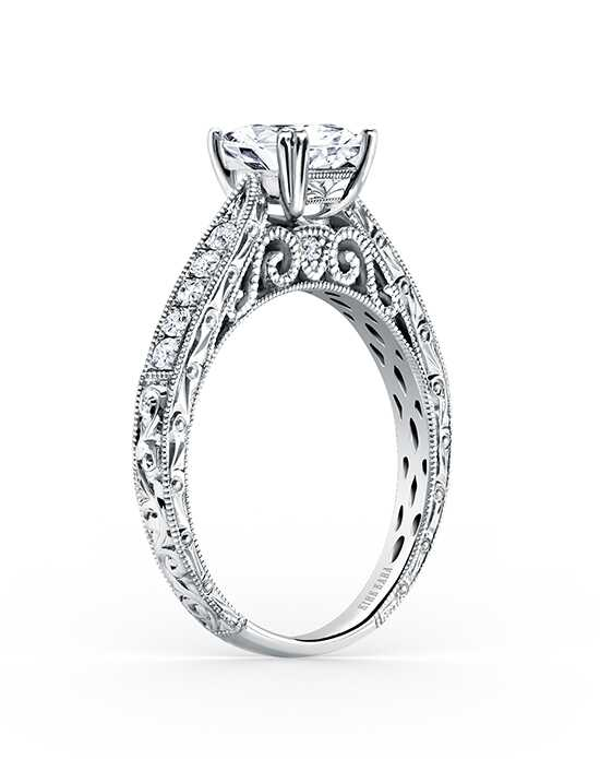 Kirk Kara Classic Princess Cut Engagement Ring