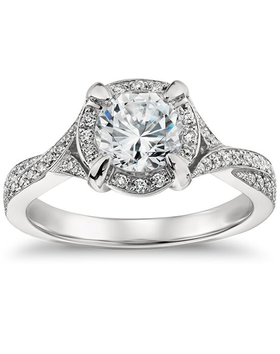4b87dc7978d25 Monique Lhuillier Fine Jewelry Twisted Halo Diamond Engagement Ring ...