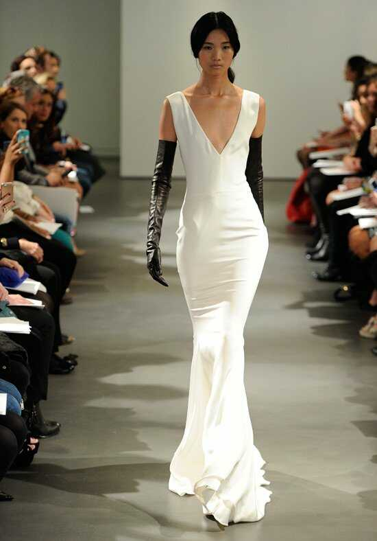 Vera Wang Spring 2014 Look 1 Sheath Wedding Dress