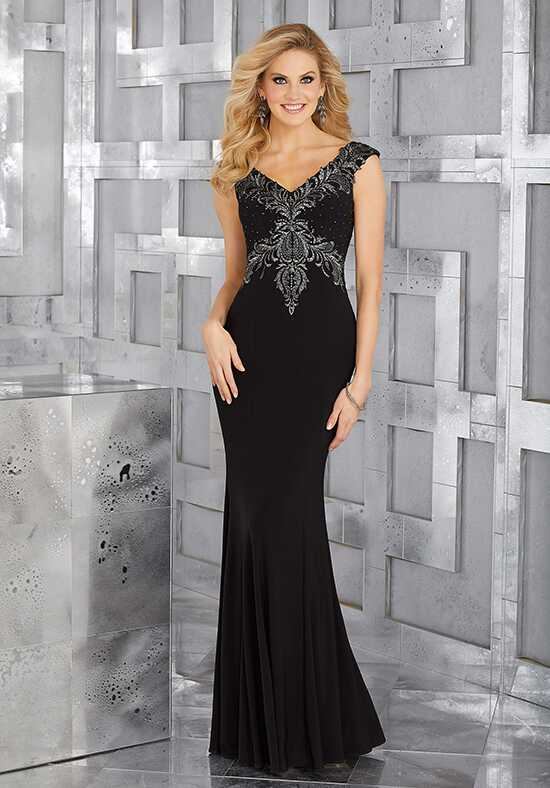 MGNY 71628 Black Mother Of The Bride Dress