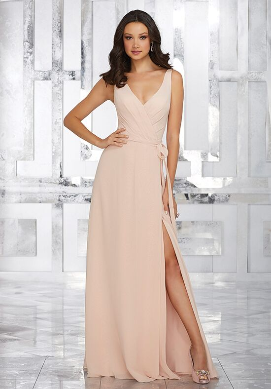 Morilee by Madeline Gardner Bridesmaids Style 21532 V-Neck Bridesmaid Dress