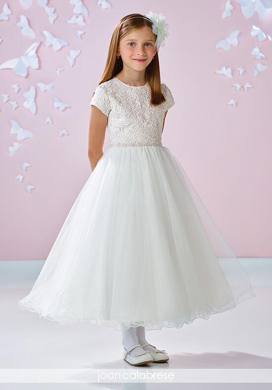 Joan Calabrese by Mon Cheri 117349 Ivory Flower Girl Dress