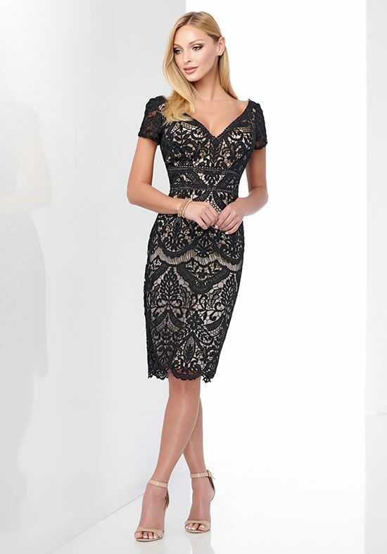 Social Occasions by Mon Cheri 218815 Black Mother Of The Bride Dress