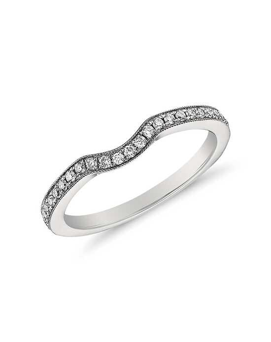 Monique Lhuillier Fine Jewelry Milgrain Diamond Ring (1/6 ct. tw.) Platinum Wedding Ring