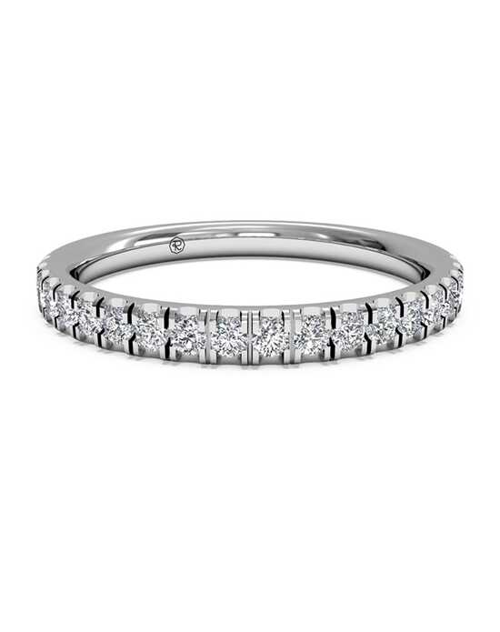 Ritani Women's French-Set Diamond Wedding Band - in 14kt White Gold (0.25 CTW) White Gold Wedding Ring