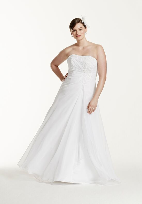 David's Bridal David's Bridal Collection Style 9V9409 A-Line Wedding Dress