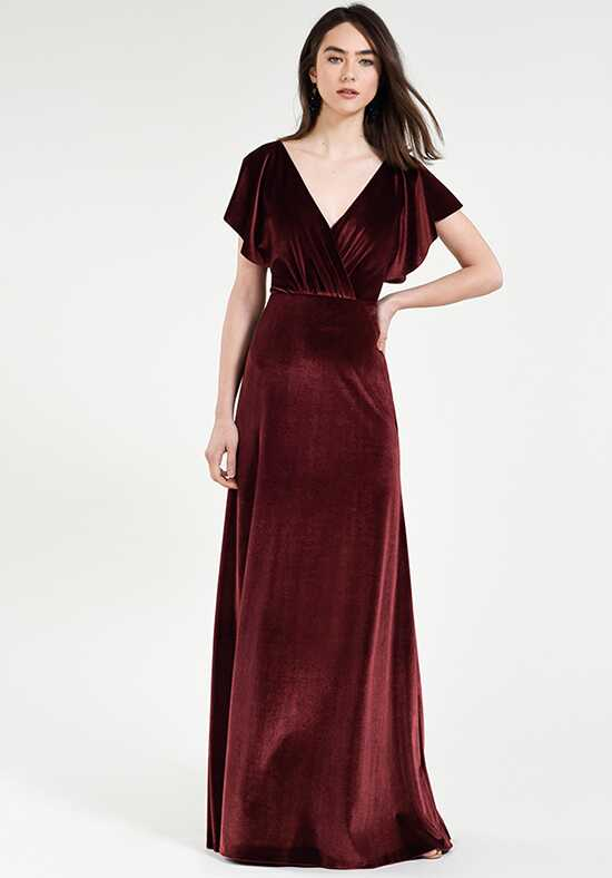 Jenny Yoo Collection (Maids) Ellis V-Neck Bridesmaid Dress