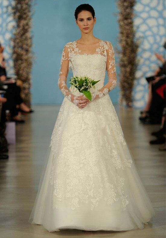 oscar de la renta bridal 2014 look 2 wedding dress the knot