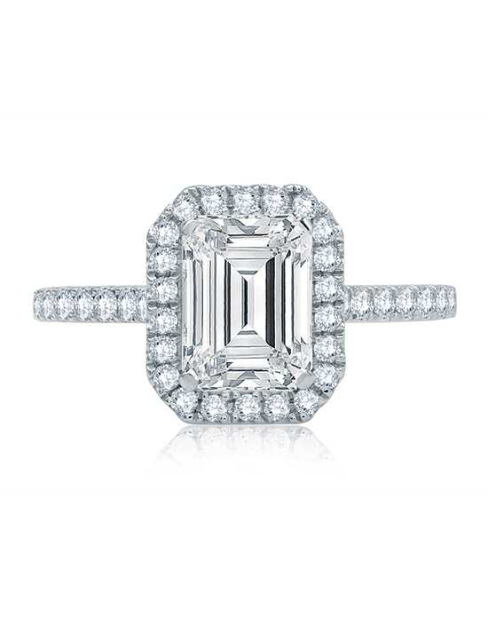 A.JAFFE Unique Emerald Cut Engagement Ring