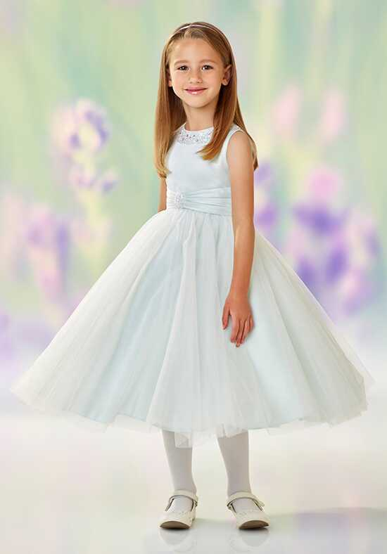 Joan Calabrese by Mon Cheri 118312 Gray Flower Girl Dress