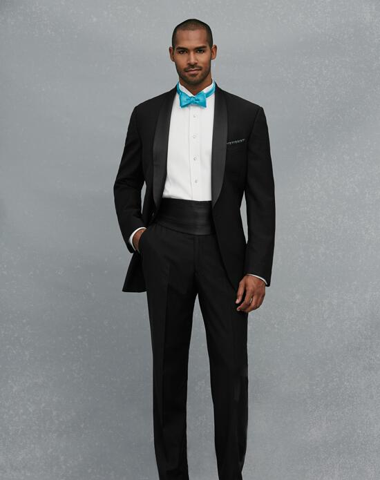 Jos. A. Bank Shawl Lapel Black Tuxedo Wedding Tuxedos + Suit photo