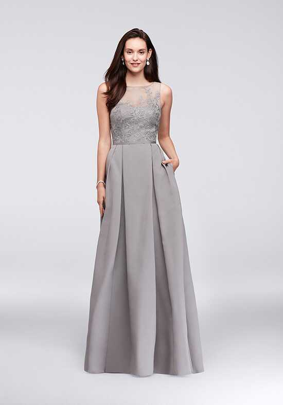 Oleg Cassini Exclusively at David's Bridal Bridesmaid Dresses Oleg Cassini Style OC290023 Illusion Bridesmaid Dress