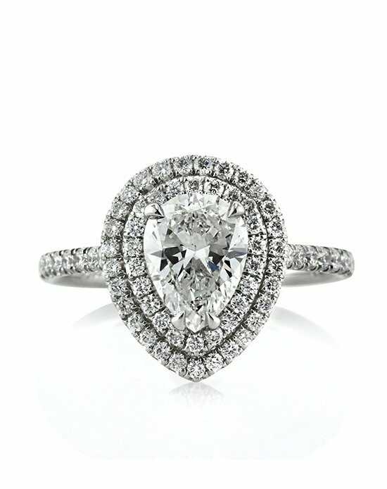 mark broumand 199ct pear shaped diamond engagement ring - Pear Shaped Wedding Rings