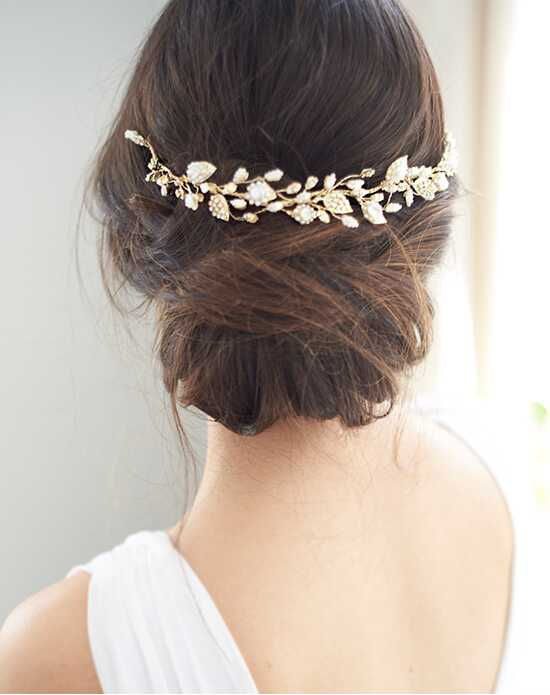 USABride Meadow Pearl Hair Vine (TI-3350-G) Gold Headband