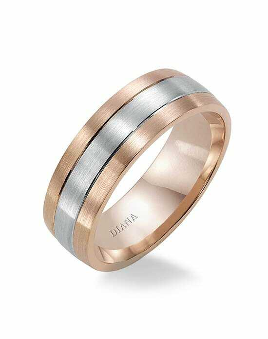 Diana 11-N7675RW7-G Rose Gold Wedding Ring