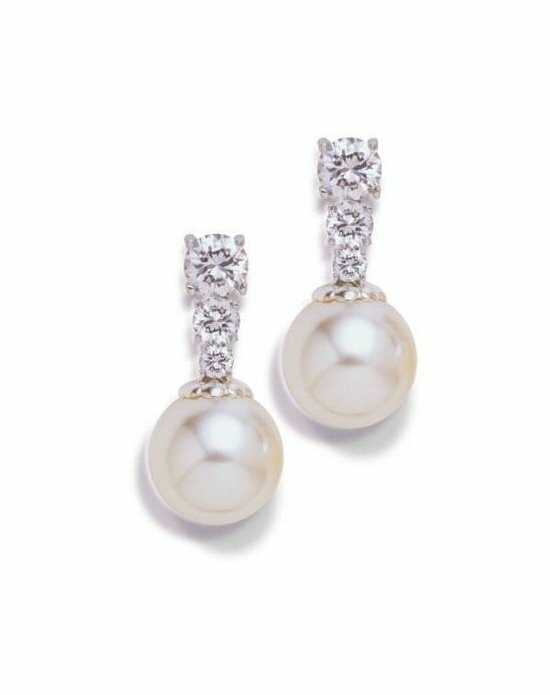 Anna Bellagio DOLCE CUBIC ZIRCONIA AND PEARL EARRINGS Wedding Earring photo