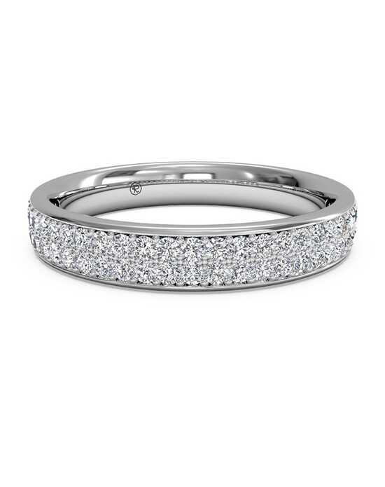ritani womens double micropave diamond wedding band - Wedding Band Rings