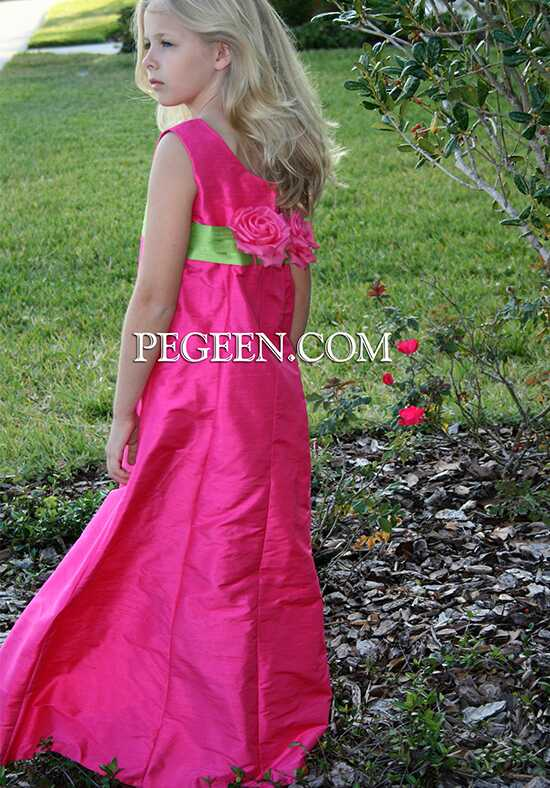 Pegeen.com 320 Black Flower Girl Dress