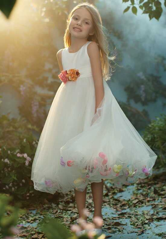 Alfred Angelo Flower Girls 711 Ivory Flower Girl Dress