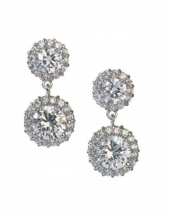 Anna Bellagio Amelia Floral Cubic Zirconia Drop Earring Wedding Earring photo