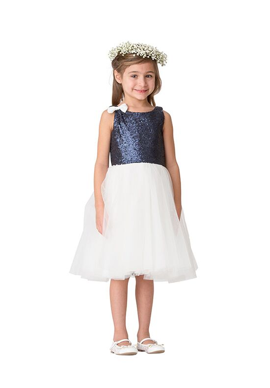 Bari Jay Flower Girls F5616 Blue Flower Girl Dress