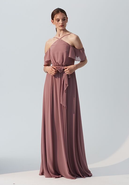 Amsale Bridesmaids Leigh Halter Bridesmaid Dress
