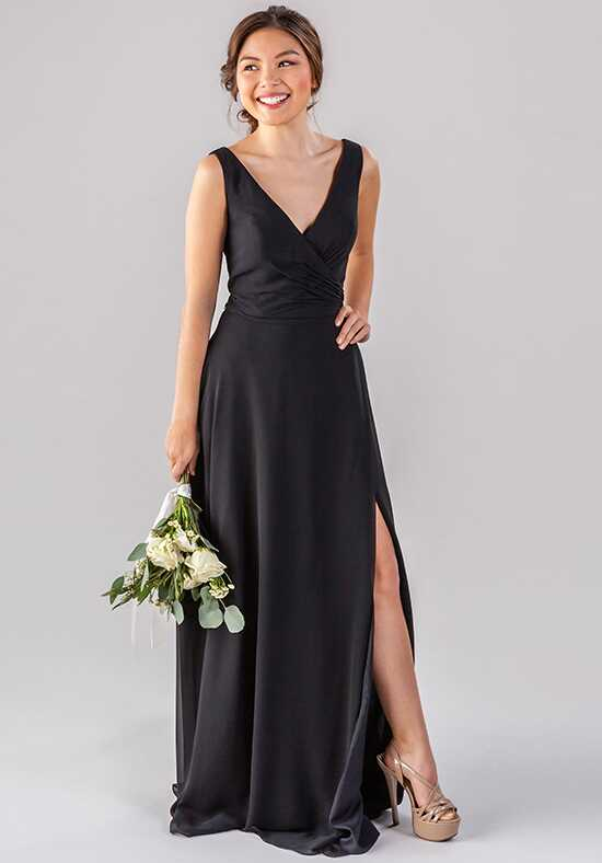 Kennedy Blue Pearl V-Neck Bridesmaid Dress