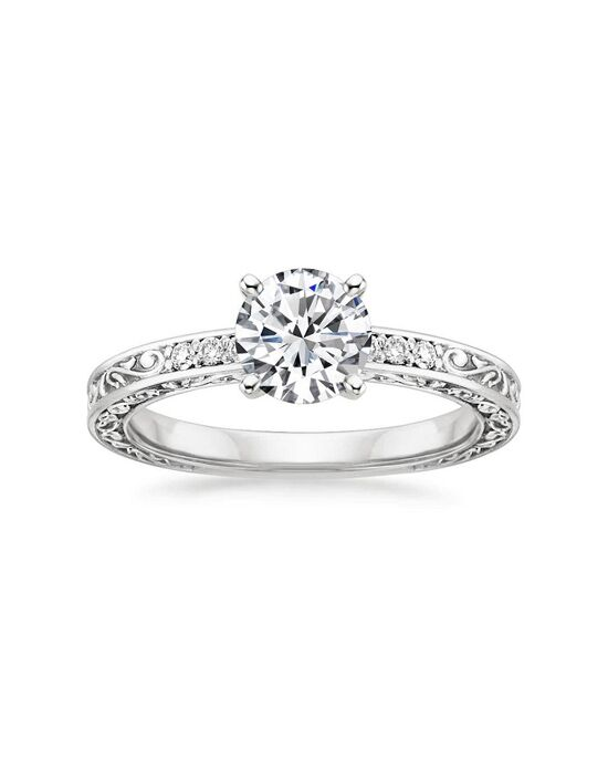 Brilliant Earth Delicate Antique Scroll Diamond Ring Engagement