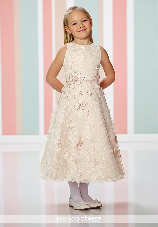 Joan Calabrese by Mon Cheri 216302 Ivory Flower Girl Dress