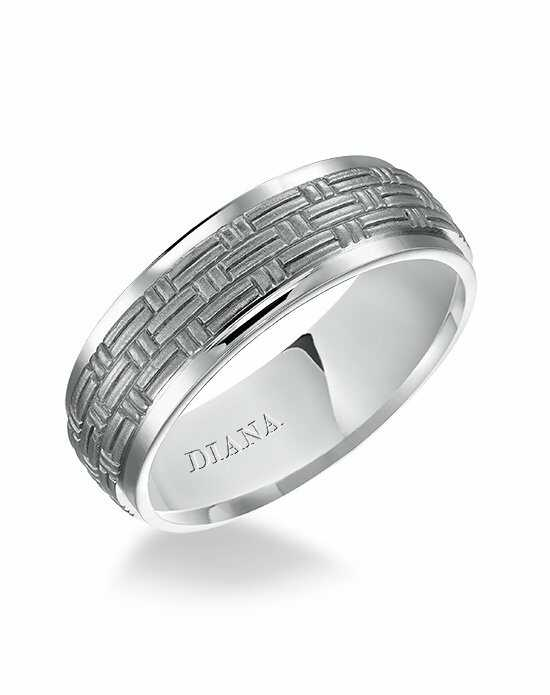 Diana 11-N81W7-G Platinum, White Gold Wedding Ring
