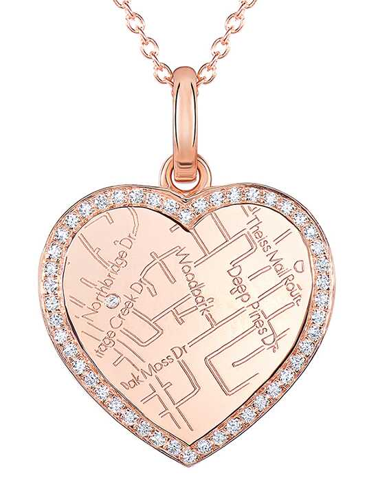 A.JAFFE Maps MAPP011 Wedding Necklace photo