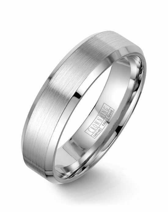 CrownRing WB-7007-M10 White Gold Wedding Ring