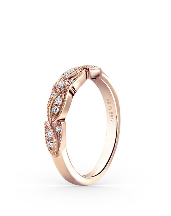 Kirk Kara Dahlia Collection K156R-B Rose Gold Wedding Ring